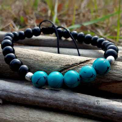 turquoise heaven bracelet with turquoise stone beads -12649
