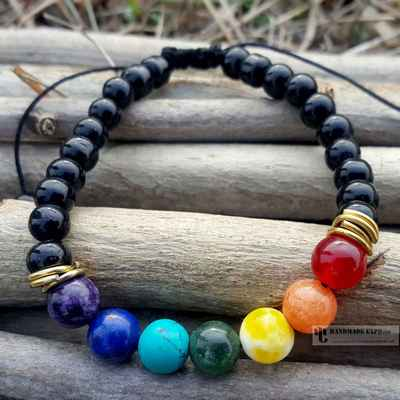 seven chakra healing bracelet with mixed beads-12652
