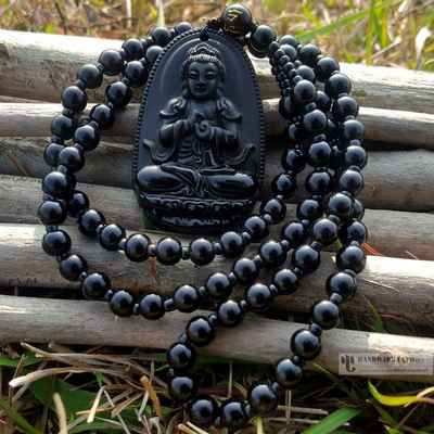 Buddha Necklace with prayer Beads-12657