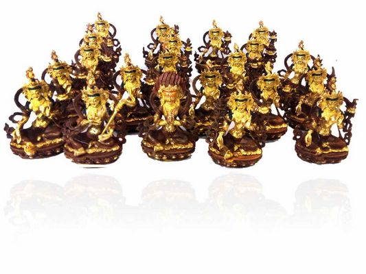 21 Tara Set Partly Gold plated with Painted Face-13299