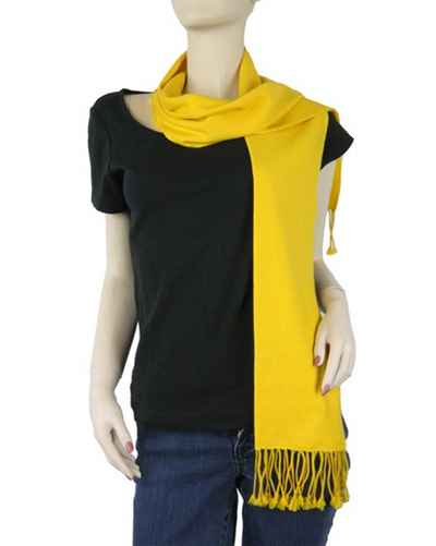 Pure Pashmina Scarf Yellow-7600